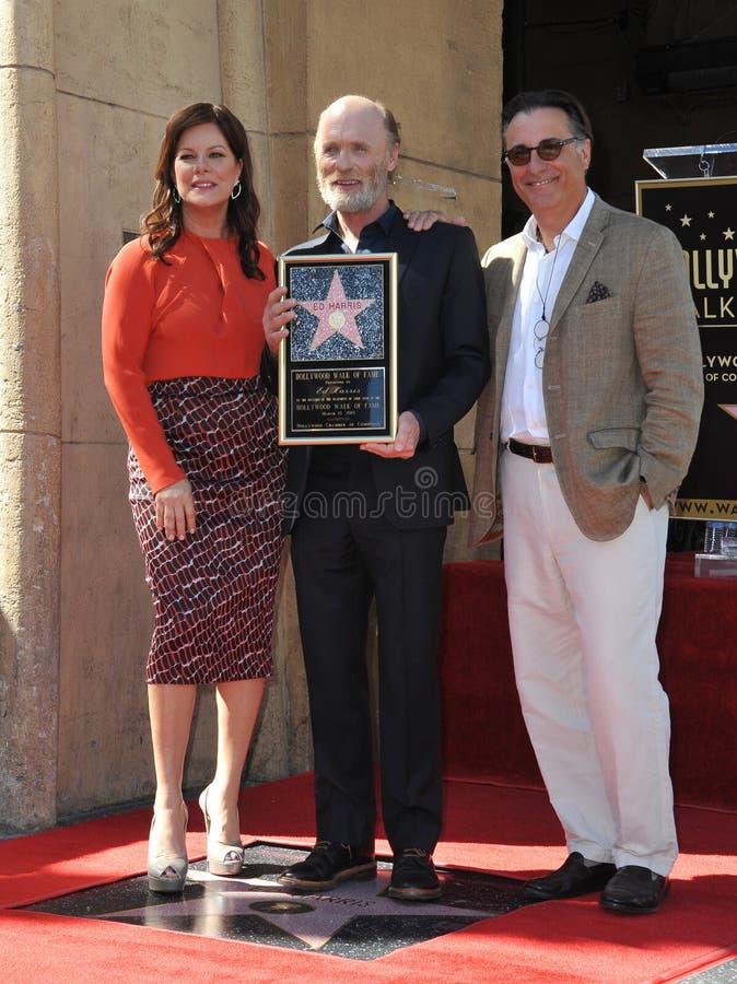Ed Harris et Marcia Gay Harden et Andy Garcia photos libres de droits