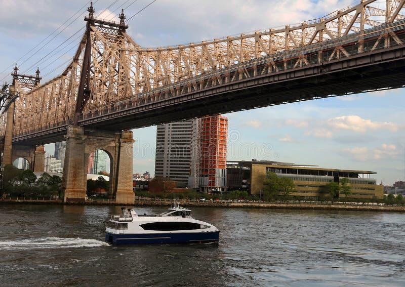 Ed Koch Queensboro bro royaltyfri fotografi