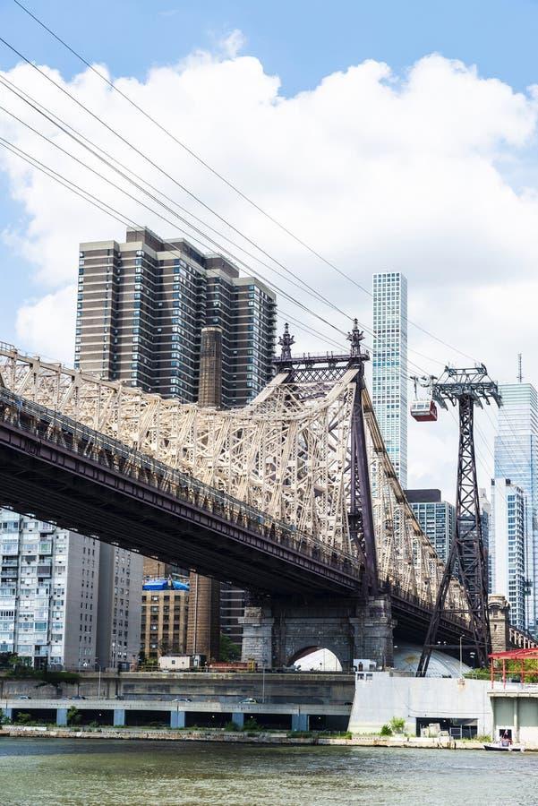 Ed Koch Queensboro most w Manhattan, Miasto Nowy Jork, usa zdjęcie stock