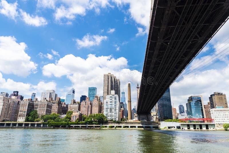 Ed Koch Queensboro most w Manhattan, Miasto Nowy Jork, usa obrazy royalty free