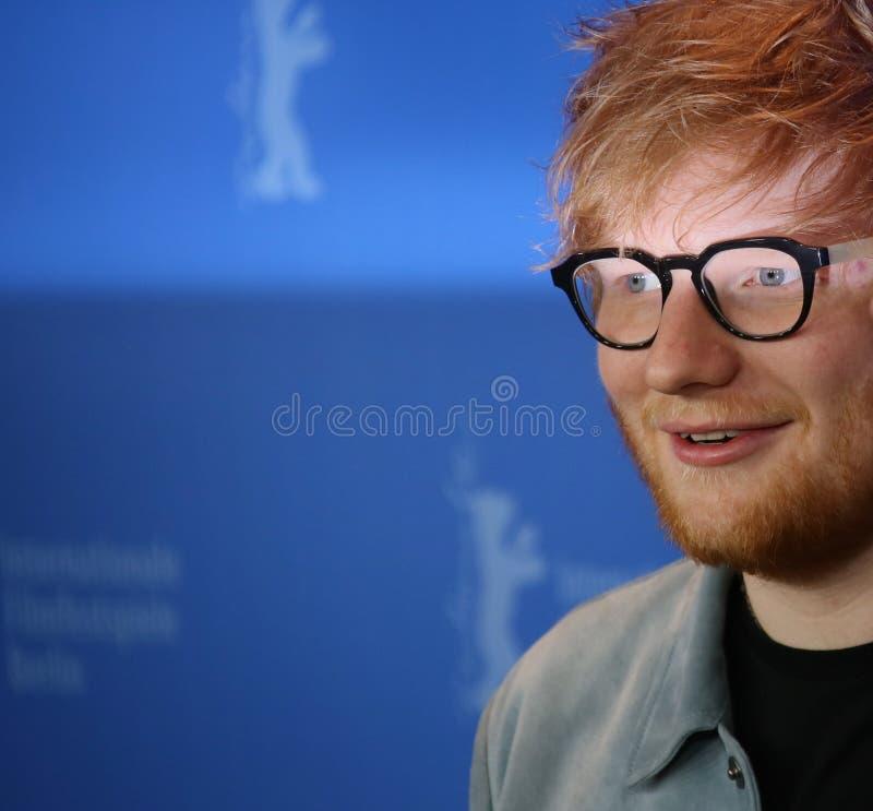 Ed Sheeran deltar i `-låtskrivare`en, fotografering för bildbyråer