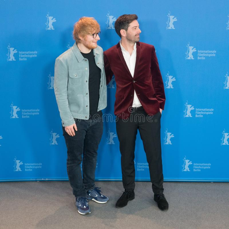 Ed Sheeran och Murray Cummings poserar under Berlinale 2018 arkivfoton