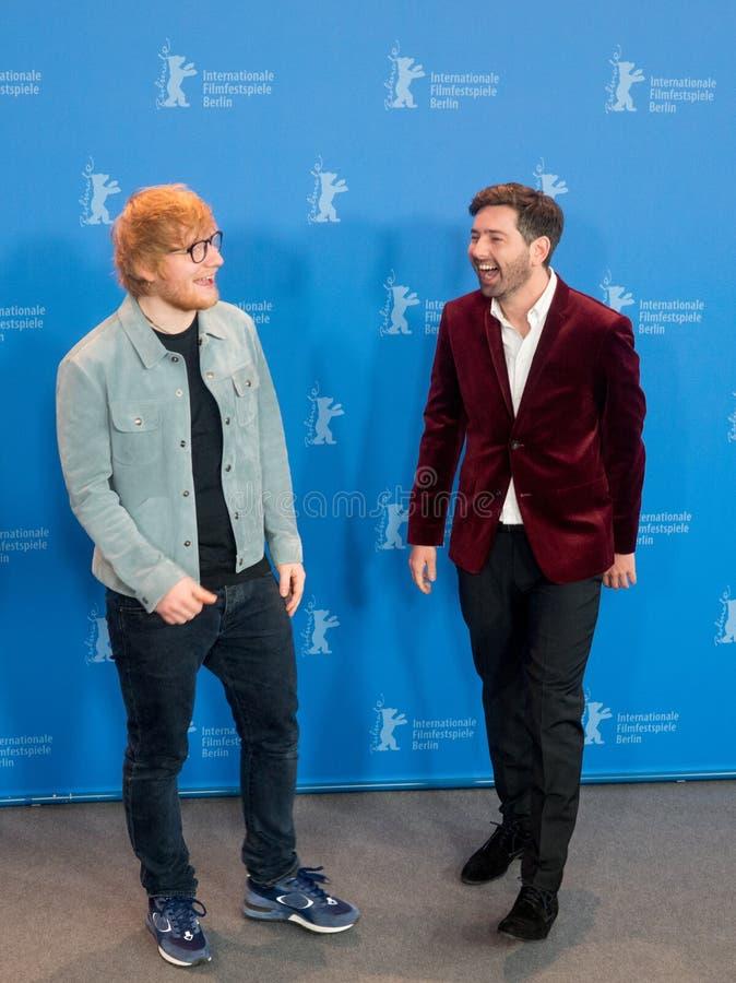 Ed Sheeran och Murray Cummings poserar under Berlinale 2018 arkivbilder