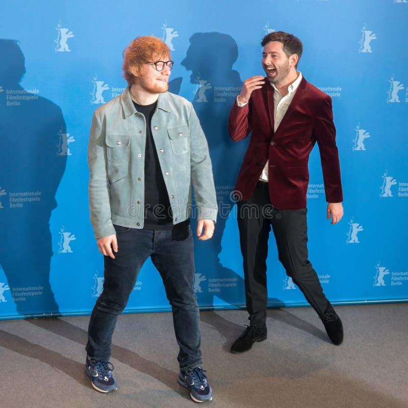 Ed Sheeran och Murray Cummings poserar under Berlinale 2018 arkivfoto