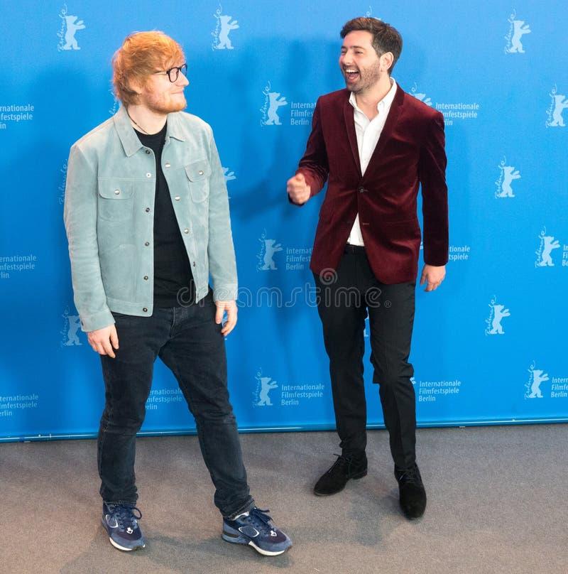Ed Sheeran och Murray Cummings poserar under Berlinale 2018 arkivbild