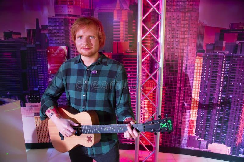Ed Sheeran w Madame Tussauds Nowy Jork zdjęcie royalty free