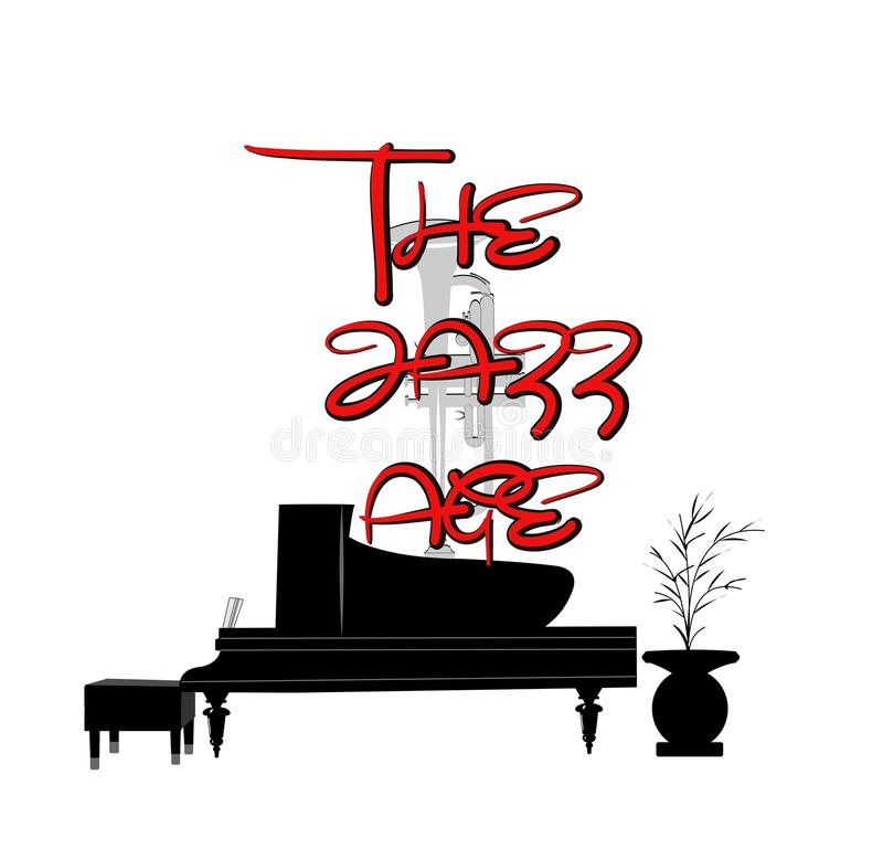 Edad del jazz stock de ilustración