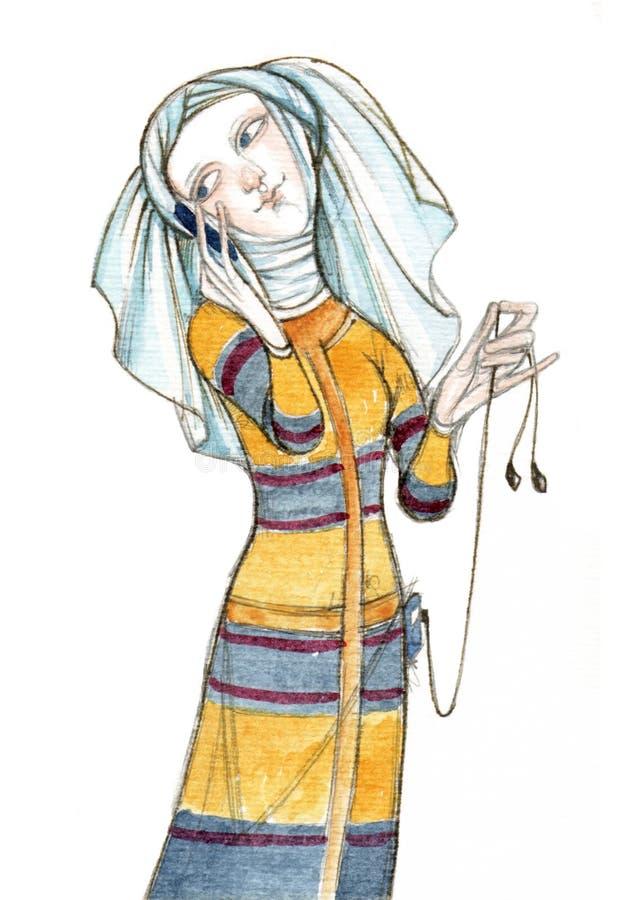 Edades Medias - modernas stock de ilustración