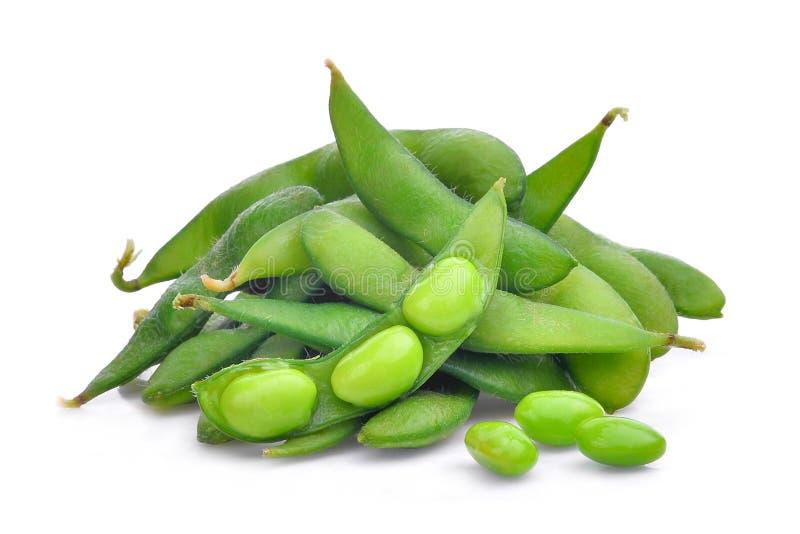 Edamame beans isolated on white. Background stock photography