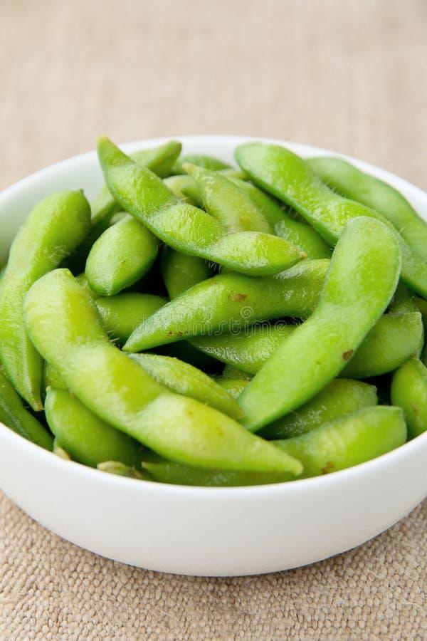 Edamame soy beans royalty free stock photo