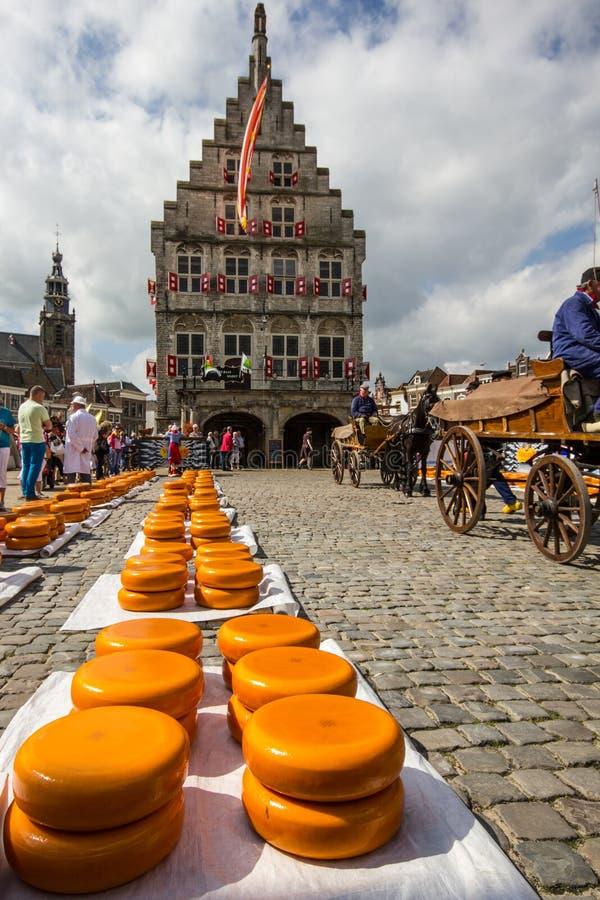 Edammer kaasmarkt in Gouda royalty-vrije stock fotografie