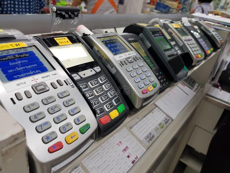 EDC机器曼谷泰国- 2018年6月14日:在Shopp的EDC机器 免版税库存图片