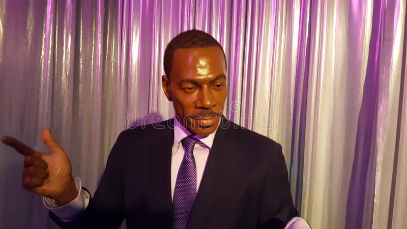 Eddie Murphy Hollywood Wax Statue photographie stock