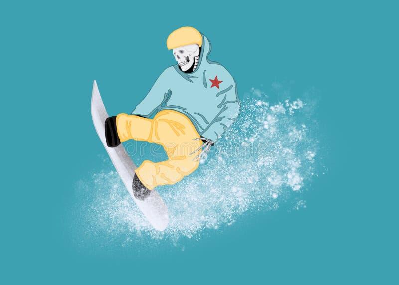 Eddie Snowboarding rapide illustration libre de droits