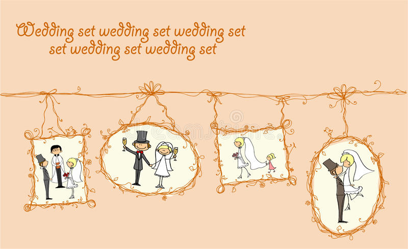 Download Цedding Pictures Hanging, Vector Stock Vector - Illustration of groom, decorative: 21862972