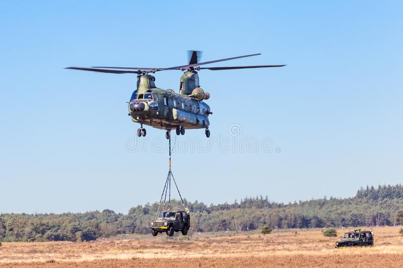 Dutch Chinook transport helicopter royalty free stock images
