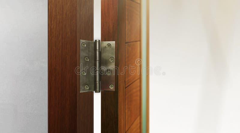 Edelstahl-Tür-Scharniere stockbilder