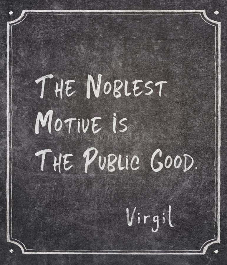 Edelste beweging veroorzakend Virgil-citaat royalty-vrije stock afbeelding