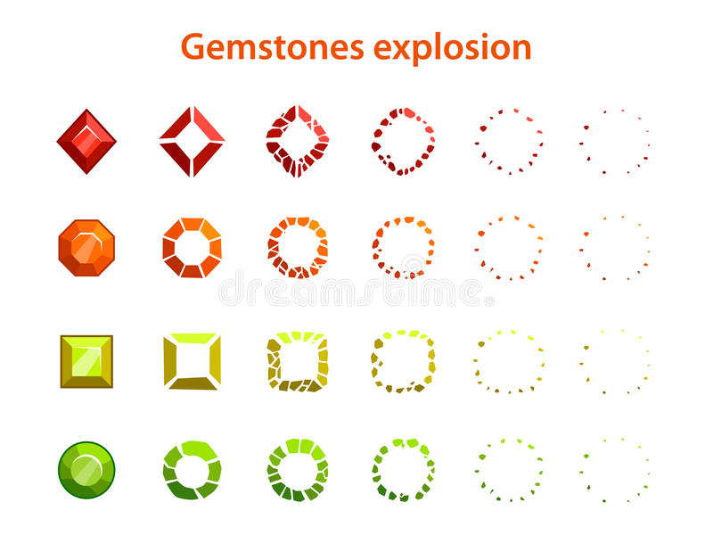 Edelstein-Explosionsrahmen der Karikatur bunte vektor abbildung