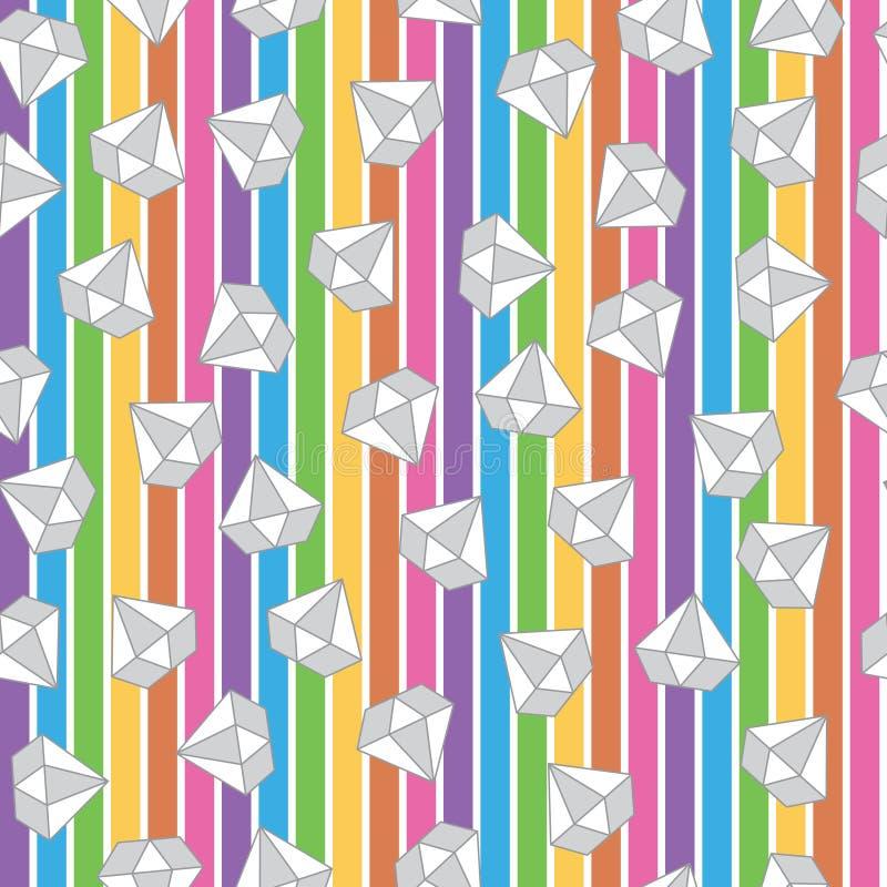 Edelsteine in der Regenbogenfarbe stock abbildung