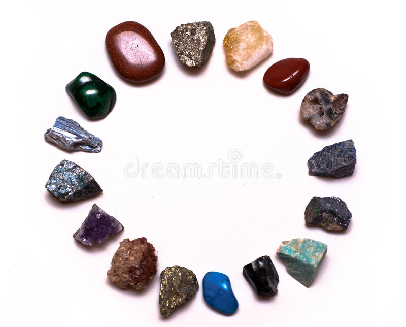 Edelsteine und Mineralien stockfotos