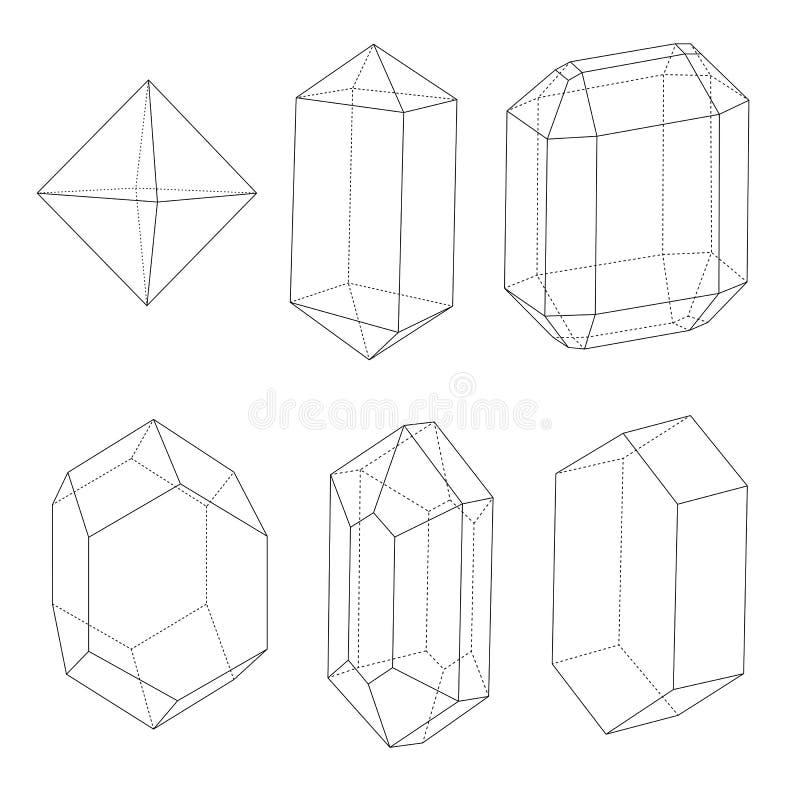 Edelsteinentwürfe vektor abbildung