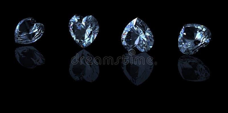 Edelsteinhintergrund diamant stockfoto