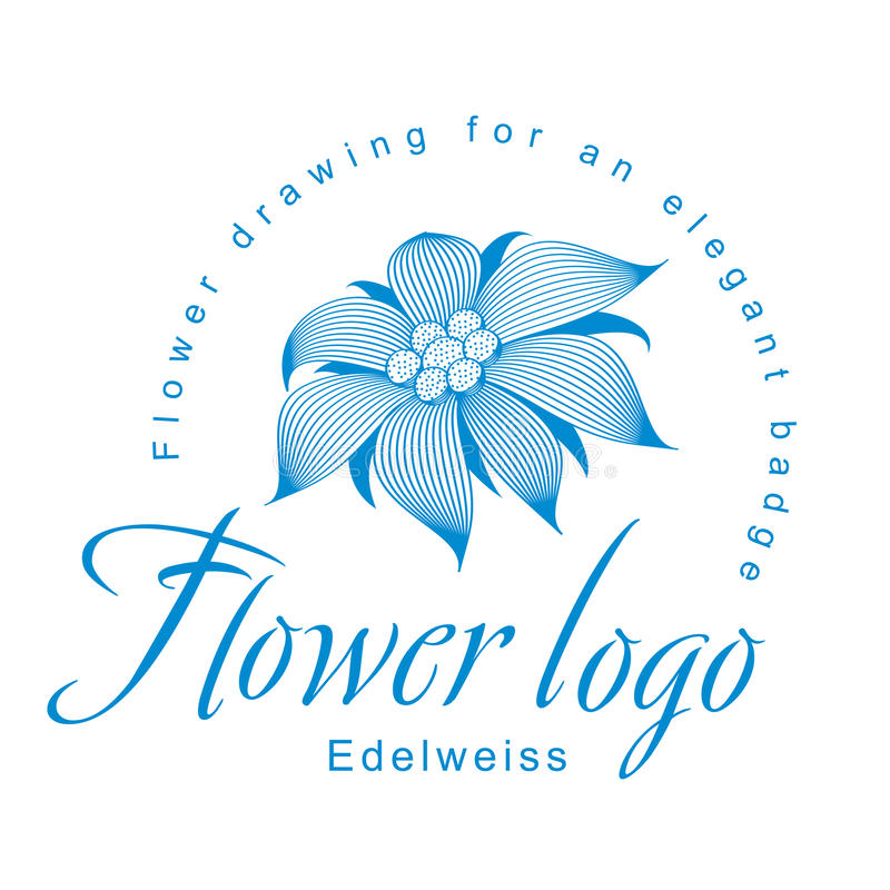 Edelweiss Is A Logo Template, A Flower For An Elegant Corporate ...