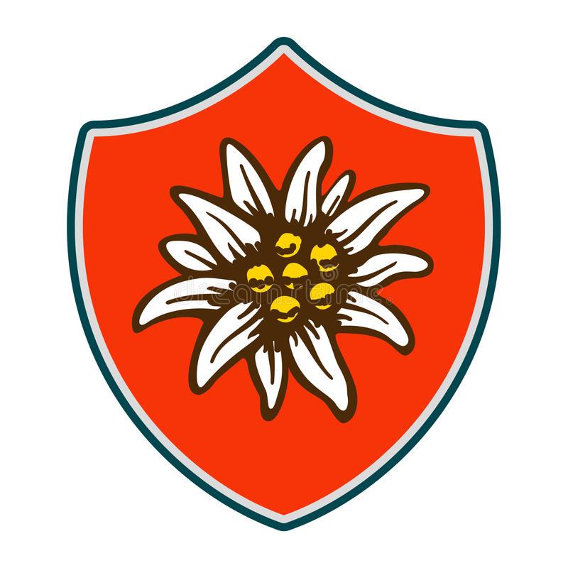 Free Edelweiss Shield Flower Symbol Alpinism Alps Germany Logo Stock Images - 93719854