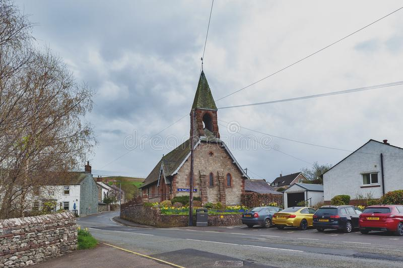 Saint Paul Church in Pooley Bridge, a small village near Lake Ullswater in Lake District, England stock image