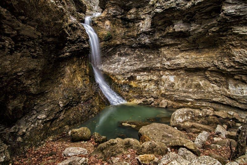 Eden Falls nell'Arkansas fotografia stock libera da diritti
