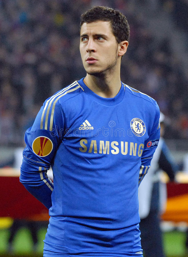 Eden Hazard de Chelsea London photographie stock libre de droits