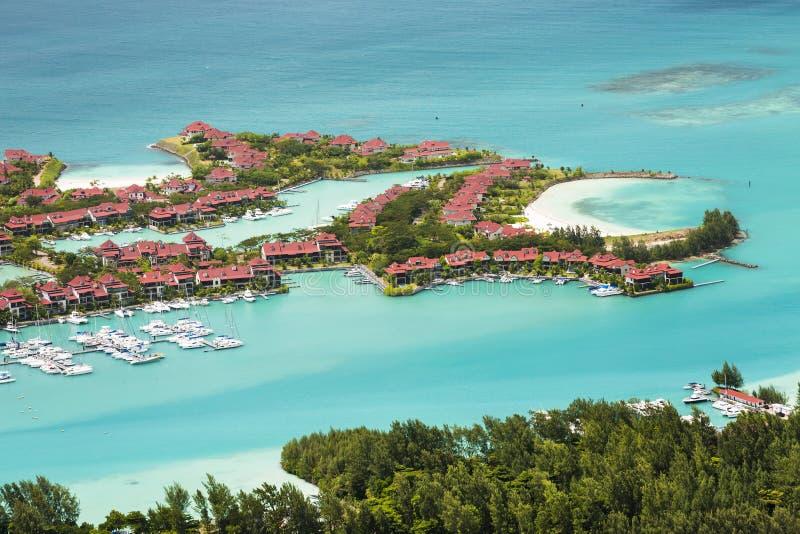 Eden Island, Mahe, Seychellen stockbild
