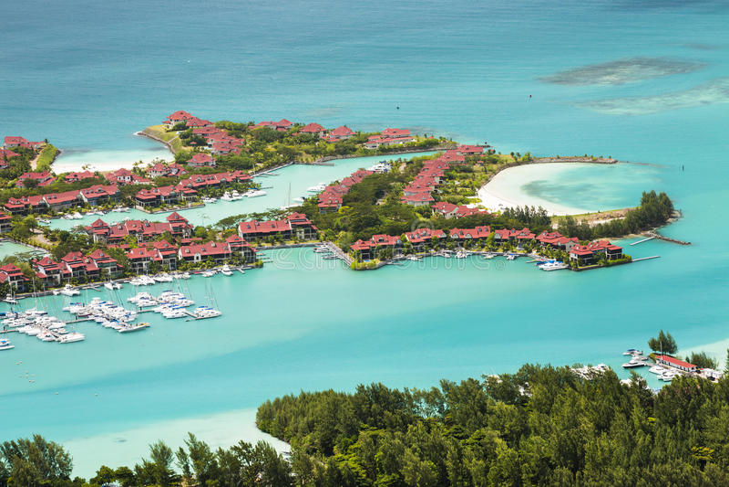 Eden Island, Mahe, Seychelles image stock
