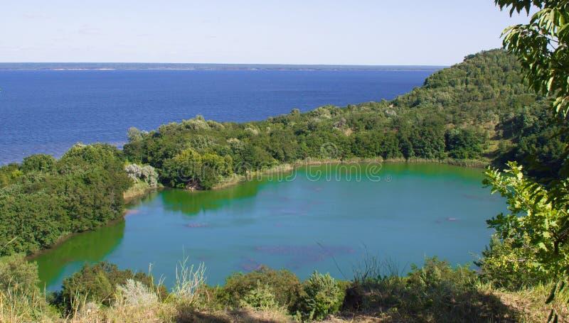 Eden Lake Blauwe lagune stock afbeelding