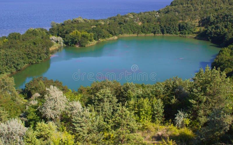 Eden Lake Blauwe lagune stock foto