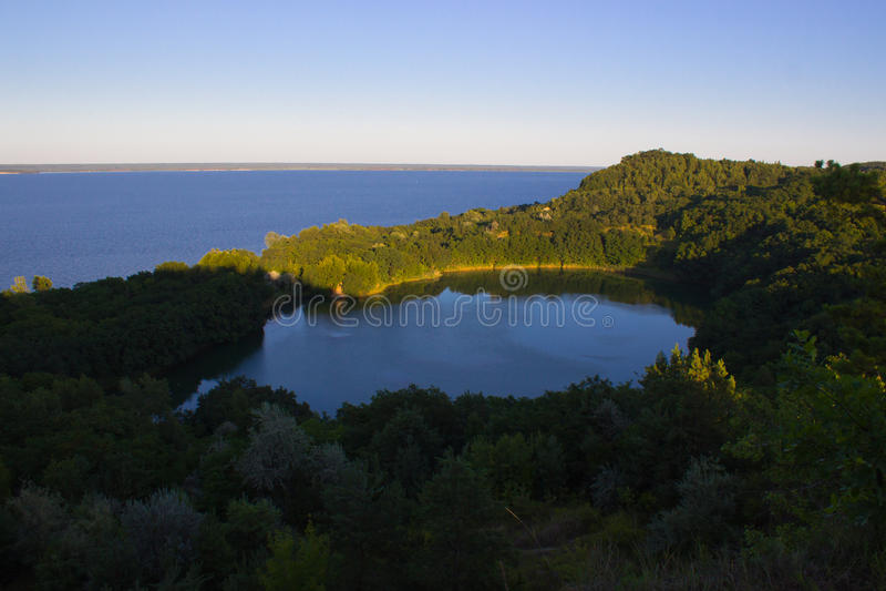 Eden Lake Blauwe lagune royalty-vrije stock foto