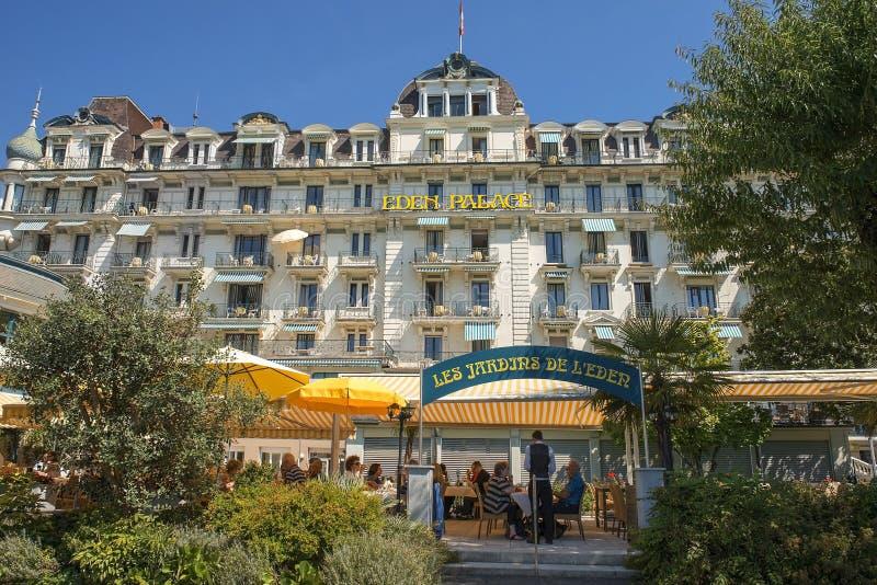 Eden Palace, Montreux, Meer Genève, Zwitserland royalty-vrije stock afbeeldingen