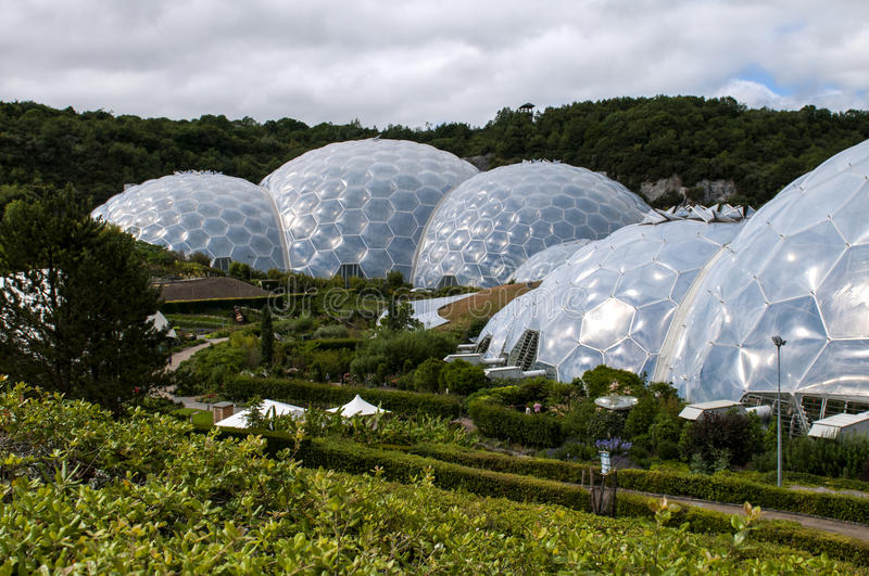 Eden Project royaltyfria bilder