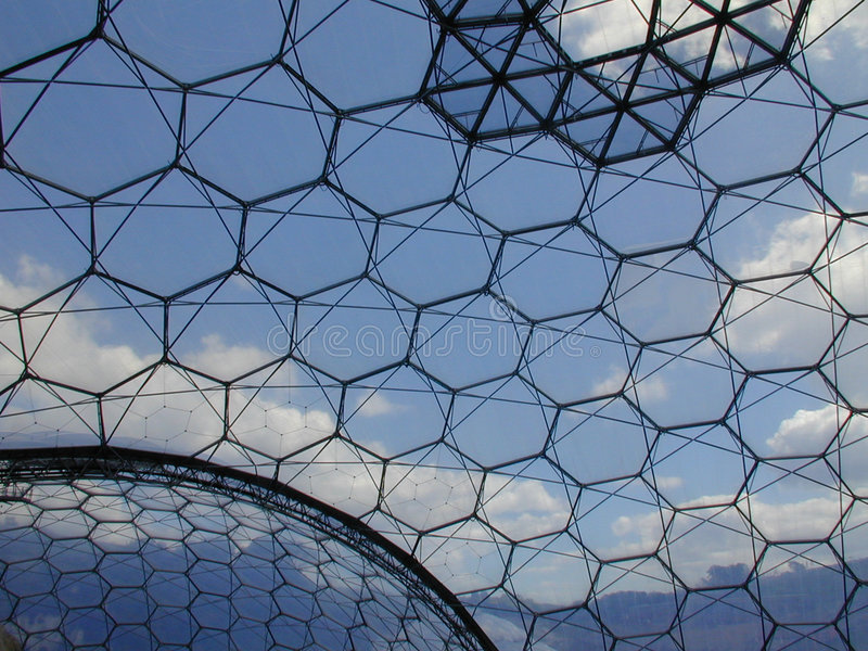 Download Eden Project - Biome stock photo. Image of nature, clouds - 16606