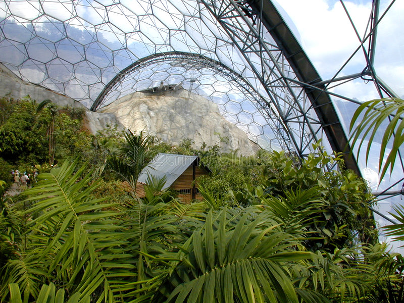 Eden Project - Biome stock photo