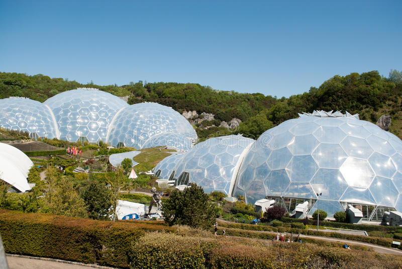 Eden Project Biomes stockbild