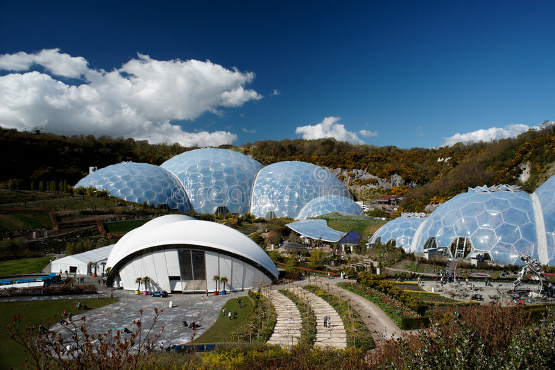 Eden Project, Cornwall. Eden Project in St. Austel, Cornwall, England stock photo