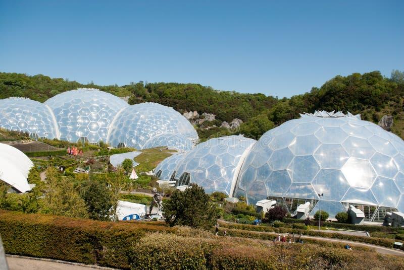 Eden projekta Biomes obraz stock
