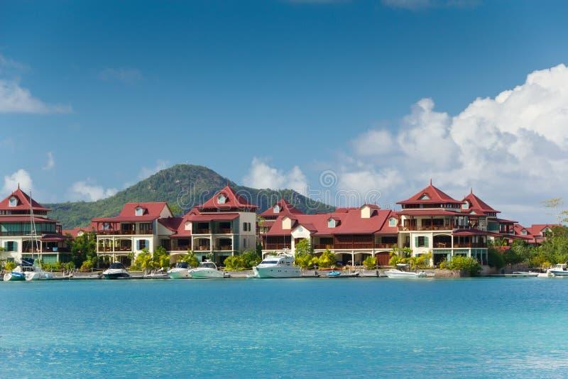 eden wyspy resedency Seychelles zdjęcie stock