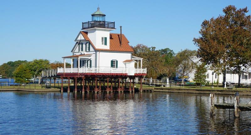Edenton NC Roanoke rzeki latarnia morska zdjęcie royalty free