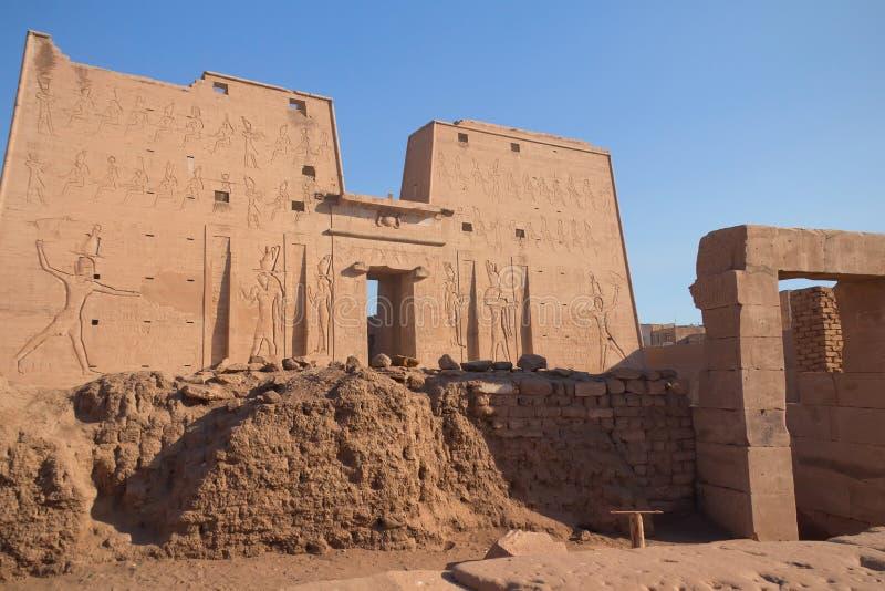 edfu Egypt horus świątynia fotografia stock