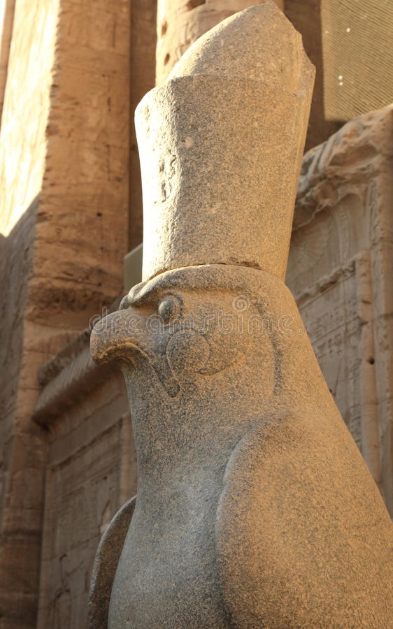 Edfu Tempel in Ägypten stockbilder