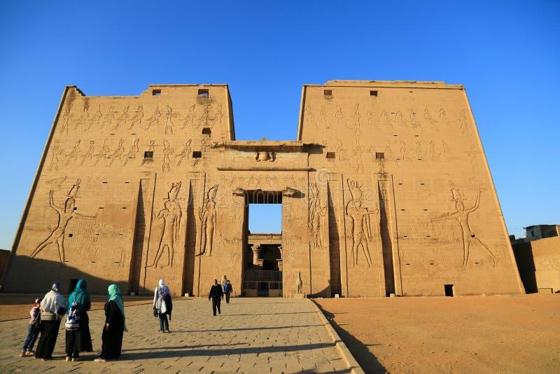 Edfu Tempel in Ägypten stockbild