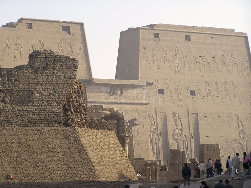 Edfu Tempel, Ägypten, Afrika stockfotos